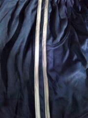 Marineblauwe Trenas Strydom Crazee Wear - Fitnessbroek - Mesh Pant - Heren - Maat M - Navy-met dubbele witte streep - MPP