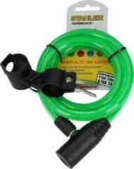 Stahlex Superlock Staalkabelslot met Plastic Omhulsel Groen – 12x1cm | Bescherming | Fietsslot | Fiets op Slot zetten | Fiets op Slot Doen