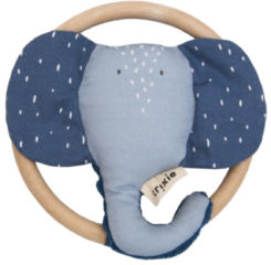 Trixie Baby Accessoires Rattle - Mrs. Elephant Blauw