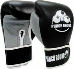 Punch Round™ Punch Round ELITE PRO Bokshandschoenen Zwart Grijs 8 OZ Punch Round Bokshandschoenen