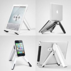 Zilveren Ergoline Cricket Multi Standaard voor laptop-tablet-telefoon Wit