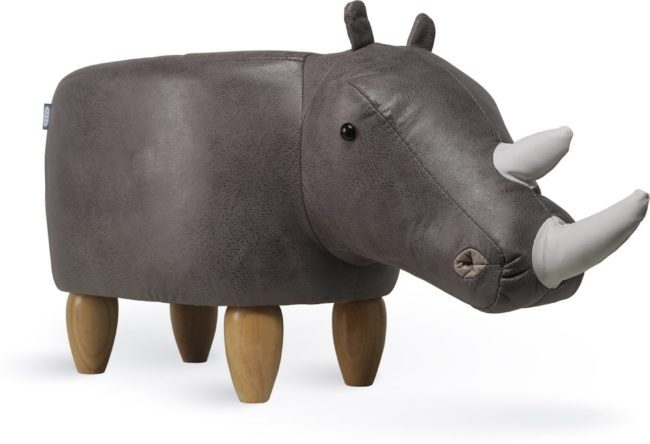 Afbeelding van Grijze Feel Furniture Animal chair - Neushoorn