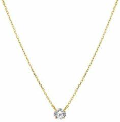 N-joy Trendstyle Geelgouden dames collier met zirkonia 10055