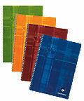 Schrift Clairefontaine spiraal 100 pagina's 21 x 29,7 cm gelijnd geassorteerde kleuren