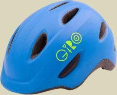 Giro Scamp Kinder Fahrradhelm Kopfumfang S 49-53 cm mat blue/lime