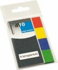 Info Notes Info Page Markers film transparant 20x50mm, 4 kleuren