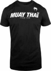 Venum Muay Thai VT T-Shirt - Katoen - Zwart - Wit-XL