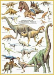 Eurograph Puzzel 1000 stukjes-Dinosaurs of the jurrasic