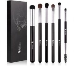 Zwarte Dermarolling 6-Delige Eyeshadow Make Up Kwasten Set DF0601