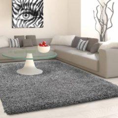 Flycarpets Hoogpolig Vloerkleed - Candy Shaggy Effen - Kleur: Grijs - Afmeting: 270x370cm