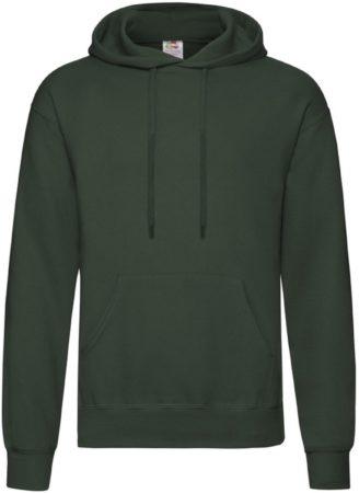 Afbeelding van Fruit of the Loom capuchon sweater donkergroen voor volwassenen - Classic Hooded Sweat - Hoodie - Heren kleding 2XL (EU 56)