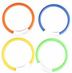 Sportx Duikringen Junior 14 Cm Groen/rood/geel/blauw 4 Stuks