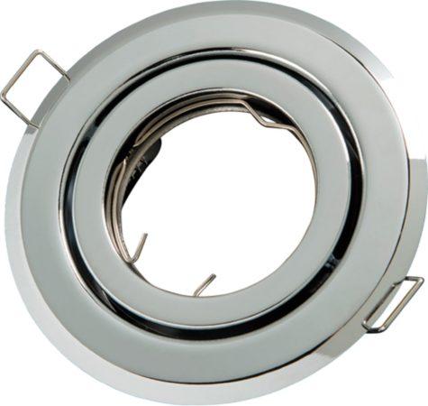 Afbeelding van Groenovatie LED line Inbouwspot - Rond - Kantelbaar - GU10 Fitting - Ø 100 mm - Chroom
