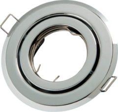 Groenovatie LED line Inbouwspot - Rond - Kantelbaar - GU10 Fitting - Ø 100 mm - Chroom
