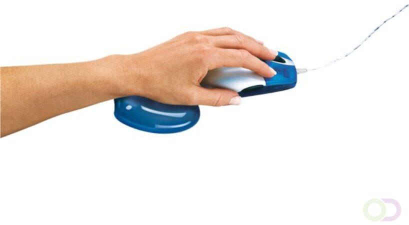 Afbeelding van Polssteun voor muis Fellowes gel transparant blauw