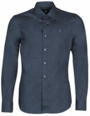 Blauwe Overhemd Lange Mouw G-Star Raw DRESSED SUPER SLIM SHIRT LS