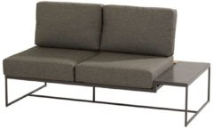 Antraciet-grijze 4 Seasons Outdoor Patio platform 2 seater left with 4 cushions