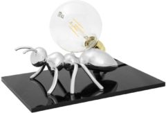 Emporium Lampada da tavolo Antlante 40x40xh20 cm soggetto formica in resina argento