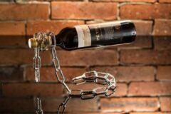 Grijze H.R production Wijnhouder - Ketting - Wijn - Wijnkast - Houder - Wijnsteun - Steun - Premium decoratie - Wijnrek - 2021 new product
