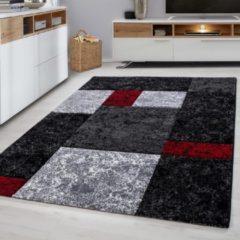 Ayyildiz Design Vloerkleed - Hawaii - Zwart / Rood - 120x170 CM - Laagpolig