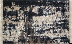 HSM Collection Vloerkleed - katoen - 230x160 cm - grijs/beige/blauw/goud