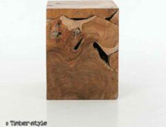 Teak houten zuil - laag - 45 cm. - Timberstyle