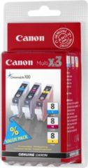 Cyane Canon CLI-8CMY - Inktcartridge / Cyaan / Magenta / Geel