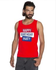 Toppers official merchandise Toppers - Rood Toppers Happy Birthday party 2019 officieel singlet/ mouwloos shirt heren - Officiele Toppers in concert merchandise 2XL