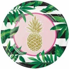 Creative Converting - Golden Pineapple Borden - 25 cm - 8 stuks