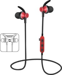 Bluetooth in-ear draadloze oordopjes iPhone / Samsung / Huawei / bluetooth oortjes - MS-T4 rood
