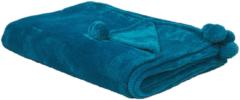 Blauwe Beliani Satiler Plaid Polyester 200 X 150 Cm