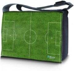 Groene False Laptoptas / messenger tas 15,6 voetbalveld - Sleevy
