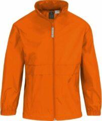 Merkloos / Sans marque Windjas/regenjas voor jongens oranje 12-13 jaar