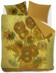 Gele Beddinghouse x Van Gogh museum katoensatijnen dekbedovertrek lits jumeaux