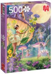 Paarse Jumbo Fairy Tale Jumbo Premium Collection Puzzel Fairy Dance in the Twilight - Legpuzzel - 500 stukjes