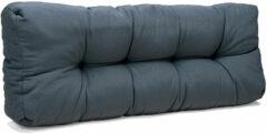 Donkergrijze Wicotex Palletkussen Basic comfort rugdeel grijs 120x40x10/20cm