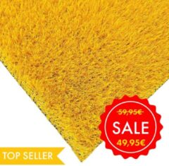 Gele Egrass RAINBOW Kunstgras tapijt - 133x200cm - 25mm - Yellow Sunshine