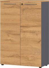 Germania Archiefkast Agenda S 120 cm hoog in grafiet met grandson eiken