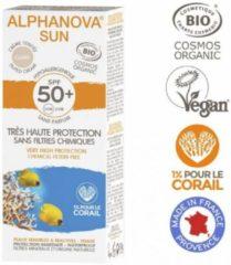 Alphanova SUN BIO SPF 50+ Getinte Zonnebrandcrème voor Allergische Gevoelige Huid - Waterproof