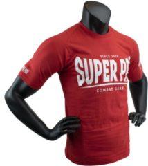 Super Pro Sportshirt - Maat M - Mannen - rood/wit