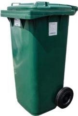 Pestan Kunststof Rolcontainer Afvalcontainer Mini-container 120 Liter Groen
