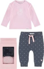 Marineblauwe Noppies Meisjes Gift Set Roze Blauw - Maat 50