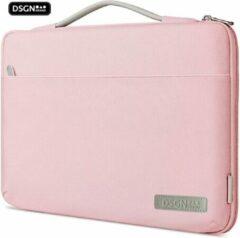 DSGN MacBook Air & Pro 13 inch Laptoptas / Roze - Laptophoes - MacBook Air Laptop Tas 13.3 inch Case/Sleeve/Hoes - Waterdicht - Extra Vak - Handvat