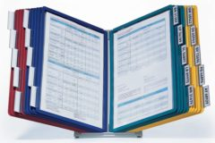 Durable Standaard voor bureaustandaard VARIO TABLE 20 - 5699 Donkerblauw, Geel, Groen, Rood DIN A4 Aantal meegeleverde displaypanels 20