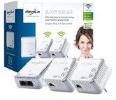 Devolo dLAN 500 WiFi Network Kit - Netzwerk-Kit - Bridge - 802.11b/g/n - an Wandsteckdose
