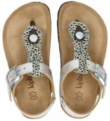Kipling Nulu 3 leren sandalen zilver/panterprint