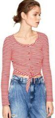 Rode T-Shirt Lange Mouw Pepe jeans PL504453
