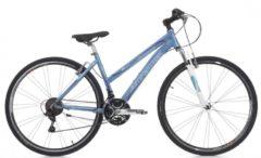28 Zoll Cinzia Fitness Damen Mountainbike Aluminium 21 Gang Starrgabel Cinzia weiß-blau