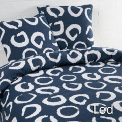 Marineblauwe Daydream Day Dream Ted - dekbedovertrek - lits-jumeaux - 240 x 200/220 - Navy