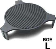 Smokeware Gietijzeren Grillrooster Large - Barbecuerooster - Gietijzeren bakplaat- Grillrooster - Bakplaat - Grill-Bakplaat- Ø 46cm - Geschikt voor Bigg groen Egg Large